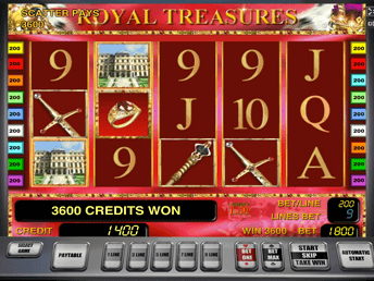 Royal Treasures в казино Вулкан